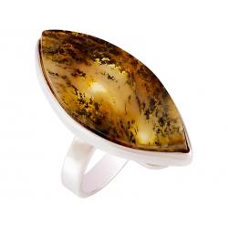 Pierścionek srebrny z bursztynem naturalnym: SAR030