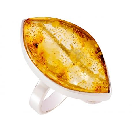 Pierścionek srebrny z bursztynem naturalnym: SAR031