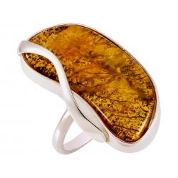 Pierścionek srebrny z bursztynem naturalnym: SAR033