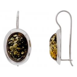 Kolczyki srebrne zdobione bursztynem: SAE015