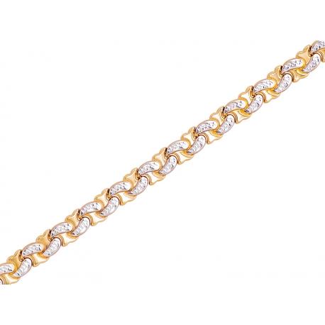Bransoleta złota rodowana: G-B017