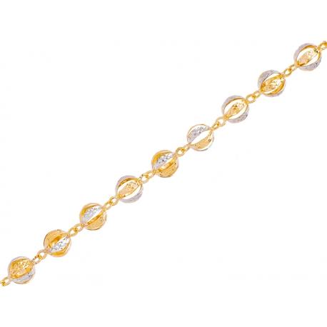 Bransoleta złota rodowana: G-B018