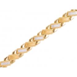Bransoleta złota rodowana: G-B022