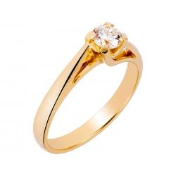Pierścionek z żółtego złota zdobiony brylantem: GDR13145