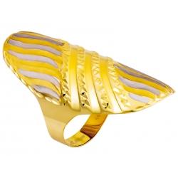 Pierścionek z żółtego złota rodowany