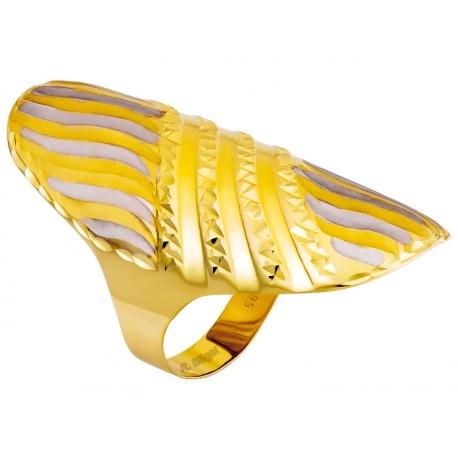 Pierścionek z żółtego złota rodowany: GGR031