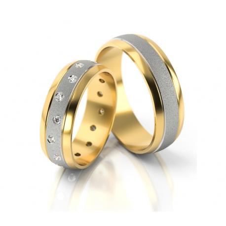Obrączki złote PZ Stelmach numer wzoru: PZS-158