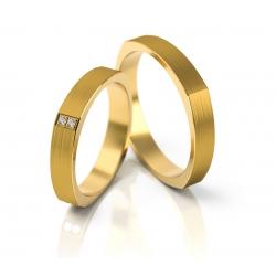 Obrączki złote PZ Stelmach numer wzoru: PZS-192