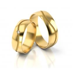 Obrączki złote PZ Stelmach numer wzoru: PZS-286