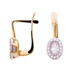Złote kolczyki zdobione cyrkoniami: GER010