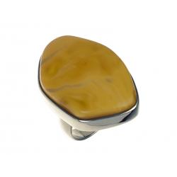 Pierścionek srebrny z bursztynem naturalnym