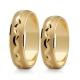 Obrączki złote PZ Stelmach numer wzoru: PZS-128
