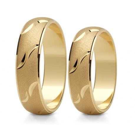 Obrączki złote PZ Stelmach numer wzoru: PZS-130