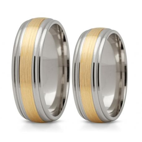 Obrączki złote PZ Stelmach numer wzoru: PZS-135