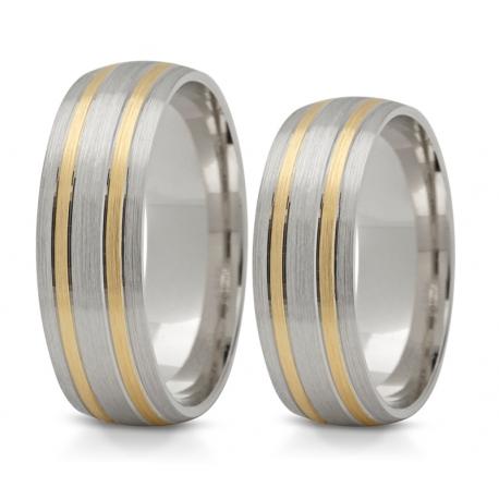 Obrączki złote PZ Stelmach numer wzoru: PZS-137