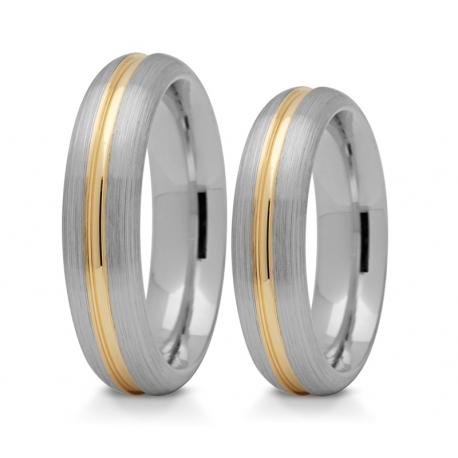 Obrączki złote PZ Stelmach numer wzoru: PZS-168
