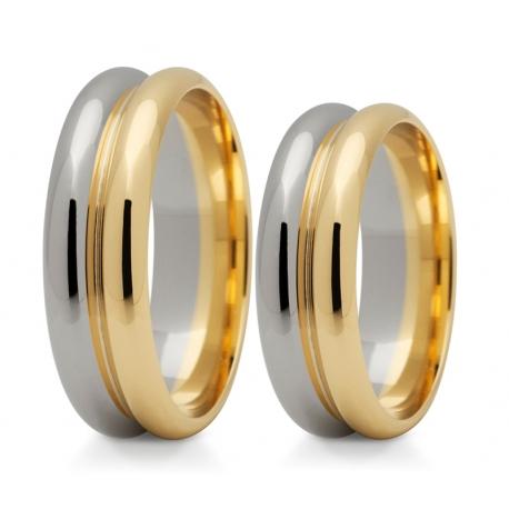 Obrączki złote PZ Stelmach numer wzoru: PZS-188