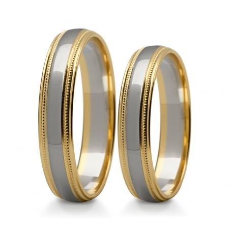 Obrączki złote PZ Stelmach numer wzoru: PZS-241