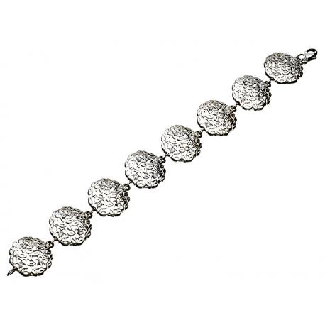 Bransoleta srebrna zdobiona cyrkoniami