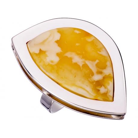 Pierścionek srebrny z bursztynem naturalnym: SAR010