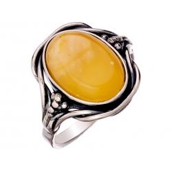 Pierścionek srebrny z bursztynem naturalnym: SAR016