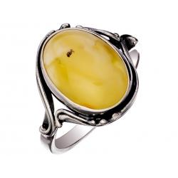 Pierścionek srebrny z bursztynem naturalnym: SAR017