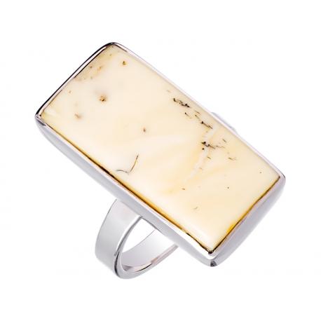 Pierścionek srebrny z bursztynem naturalnym: SAR020