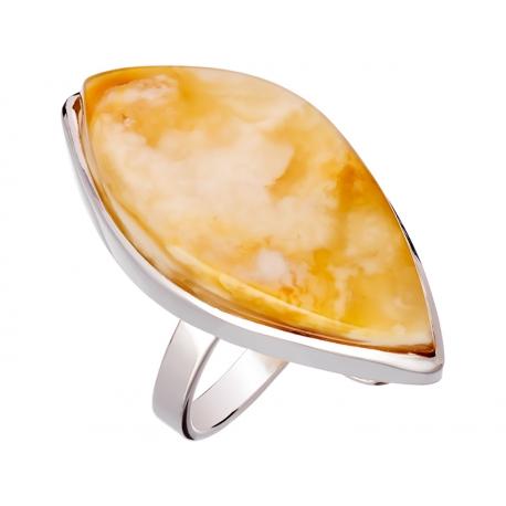 Pierścionek srebrny z bursztynem naturalnym: SAR028